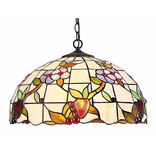 Interfan Lámpara Colgante Tiffany Enredadera E27, Multicolor