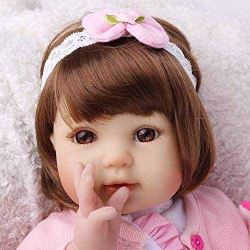 CHAREX Reborn Baby Dolls, 22 Inches Real Lifelike Toddler Girl, Soft Weighted Body, Birthday Gifts Set