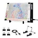 LED Pad para pintura diamante, JUSONEY Mesa de Luz Dibujo A4 USB LED trazado para artistas Dibujo Sketching Animación Diseño