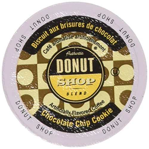Authentic Donut Shop Blend Chocolate Chip Cookie Single Cup Coffee for Keurig K Cup Brewers, 24Count