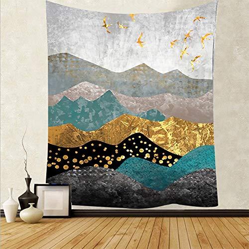 Tapiz de estilo japonés para colgar en la pared, mantel para pared, dormitorio, paisaje, pintura, tapiz, tela de fondo A8, 73x95cm