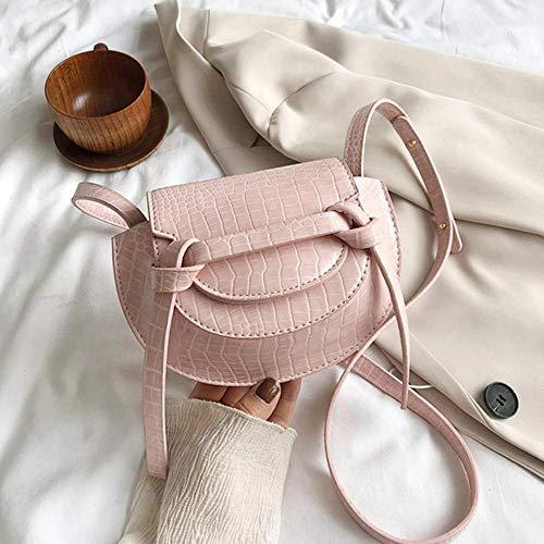PANZZ Crossbody Sacs Femmes Été Solide Couleur Épaule Sacs À Main Femme Cross Body Bag, Rose, Mini
