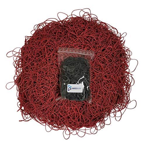 100g Schwarze Gummis | Haushaltsgummis | Kautschukringe | Kautschukbänder | Gummiringe | Ø40mm | 1,2 x 1,2mm | 60% Kautschuk | Büro, Lager, Haushalt | Bastelbedarf | Bastelmaterial