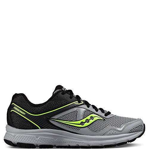Saucony Men's Cohesion Running Shoe, Black/Grey/Citron, 10 M US