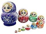 Set of 10 Pieces Cute Colorful Blue Porcelain...