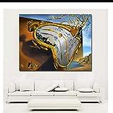 Reloj de arte abstracto moderno de Salvador Dali Impreso en lienzo Arte Pintura Cuadros de pared para sala de estar Decoración para el hogar Carteles-60x80cm Sin marco