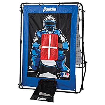Franklin Sports 2719X Pitch Back Baseball Rebounder and Pitching Target - 2 in 1 Return Trainer and Catcher Target - Great for Practices