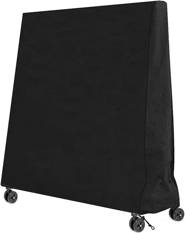 Cubierta de Mesa de Ping Pong Al Aire Libre Impermeable Vertical, 210D Oxford Cloth Ping Pong/Cubierta de Mesa de Tenis, Protector Solar a Prueba de Polvo del Equipo Deportivo,Black