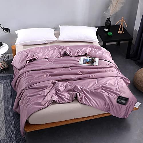 SKREOJF Nuevo 100% puro color de seda edredón de verano acolchado de verano manta lavable hielo suave seda edredón edredón acondicionador manta (Size : 200x230cm)