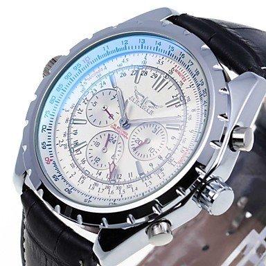 FENKOO JARAGAR Mode Luxusmarke der Männer analogen Geschäft Armbanduhr Lederarmband automatische mechanische Uhren