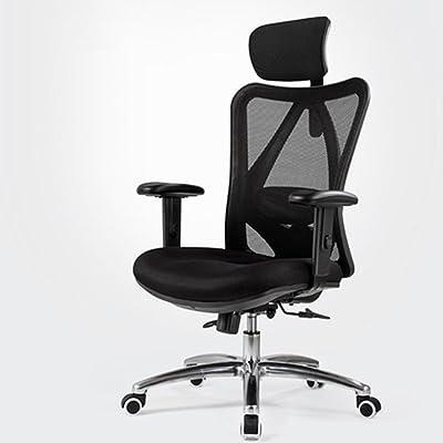 LJFYXZ Oficina Silla, Silla ergonomica Casa de la Oficina Pie de aleación de Aluminio Elevación