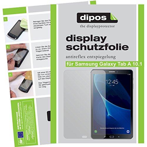 dipos I 2X Schutzfolie matt kompatibel mit Samsung Galaxy Tab A 10.1 (2016) Folie Displayschutzfolie