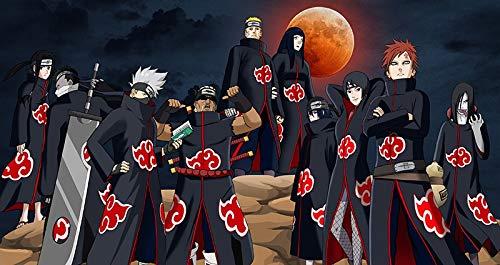 Totots Naruto: Akatsuki Puzzles de dibujos animados para adultos, Rompecabezas impresos 3D de Hatake Kakashi, Uzumaki Naruto Anime Puzzles, Rompecabezas de madera de Gaara, Pazzles interactivos para p