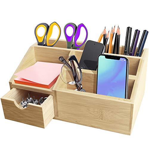 OKPOW Bamboo Desk Organiser, Nat...