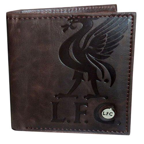 Liverpool FC - Geldbörse aus Kunstleder - Offizielles Merchandise - Geschenk für Fußballfans - Braun