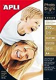 AGIPA Papier Photo Brillant A4 270 grammes R/V 10 feuilles AGIPA