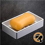 Wangel Seifenschale Seifenhalter ohne Bohren, Patentierter Kleber + Klebestreifen, Seifenablage für...