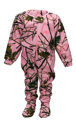 Infant Camo One Piece Footed Fleece Crawler, 6-12 Months, Pink Camo