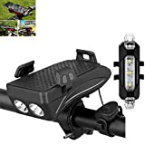 Homefantasy 2stk Fahrradbeleuchtung, Led Fahrradlicht, USB Wiederaufladbare, 2000 Mah...