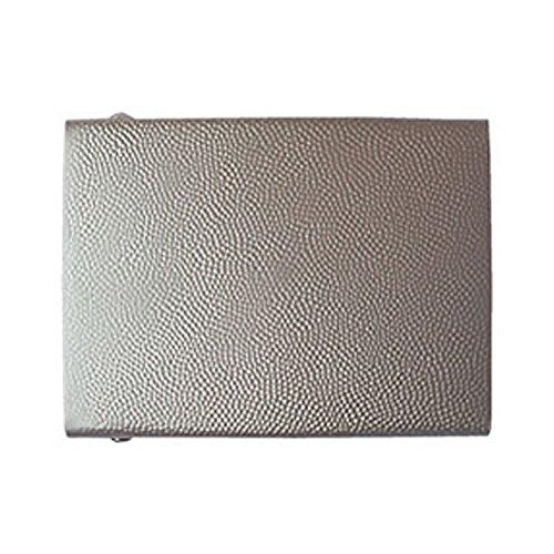 Gravurmanufaktur Koppelschloss neutral silbern aluminium-gekörnt- Koppelschnalle 45mm Koppelschloß