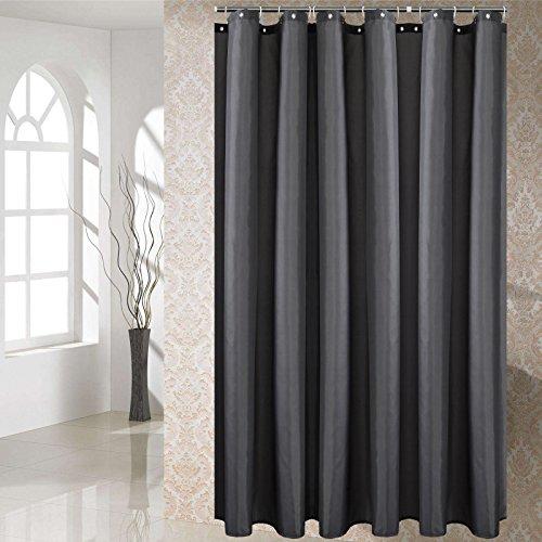 YCZZ Duschvorhang, Duschvorhangstoff aus Polyester, Badtrennwand, &urchlässiger Vorhang 200 * 220 cm Dunkelgrau