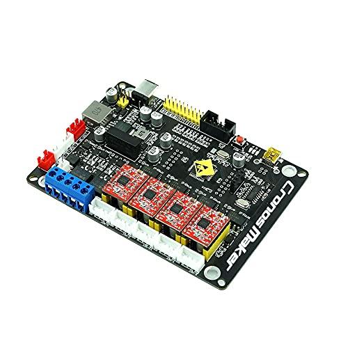 Jxjamp Grbl-Schrittmotor-Steuerplatine, 4 Achsen, mit Offline-USB-Treiber, 300 W, CNC-Lasergravierer (Color : 4Axis and1.8COffline)