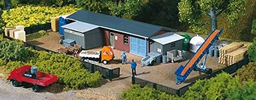 Auhagen - 13319 - Modélisme Ferroviaire - Bâtiment - Atelier De Construction avec Accessoires