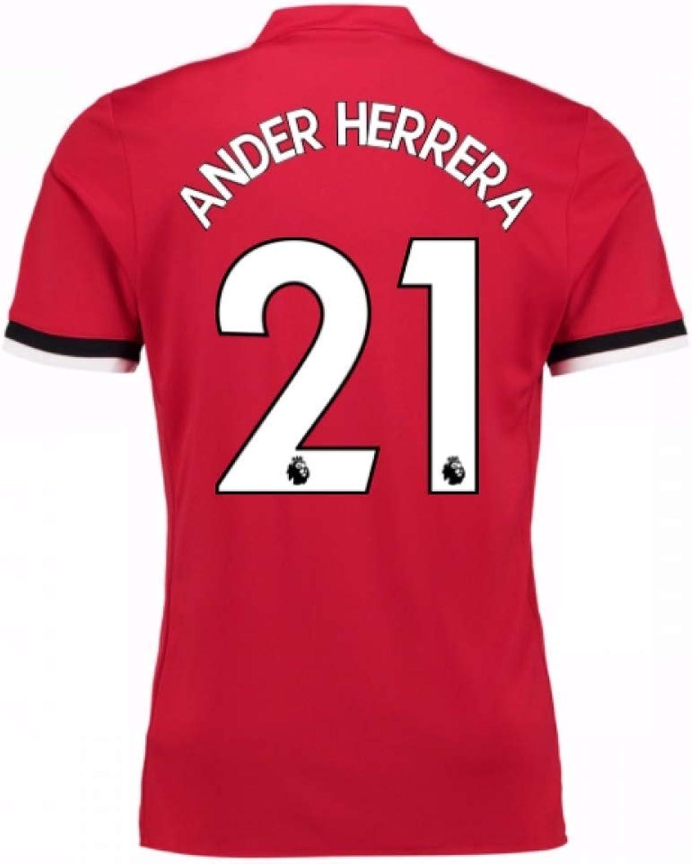 2017-2018 Man United Home Shirt (Ander Herrera 21) - Kids