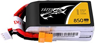 TATTU 11.1V 3S 850mAh 75C LiPo Battery Pack with XT30 Plug for 150mm to 180mm Size Micro FPV Racing Quadcopters