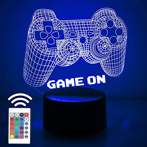 3D Video Game Controller Lamp Night Light 3D Illusion Game On lamp for Kids 7 Colors Changing product image