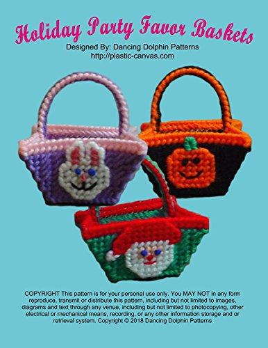 Holiday Party Favor Baskets: Plastic Canvas Pattern (English Edition)