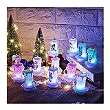 BMSYTY Vela LED, Navidad Muñeco de Nieve Muñeca Luces, Muñeco de Nieve Luces de Vela sin Llama, Decoraciones de Escritorio de la luz de la Noche de la Navidad de Halloween