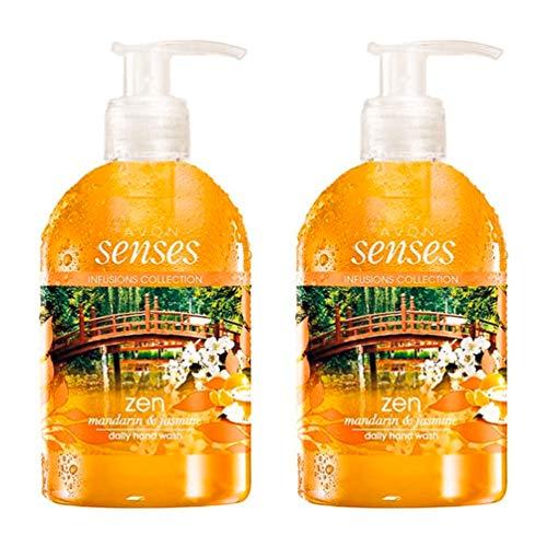 Avon Senses Infusions Zen Daily Handwäsche, Mandarine & Jasmin, 2 x 250 ml