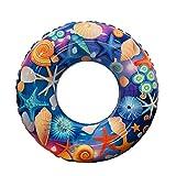 HNJZX Bouée Gonflable en Forme d'étoile de mer en Caoutchouc Multicolore, 70CM
