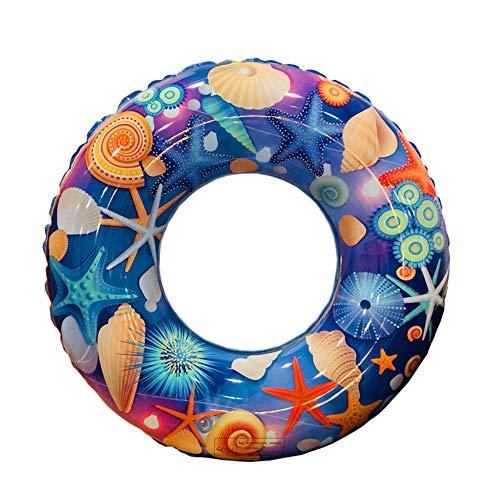 HNJZX Flotadores de estrella de mar, anillo flotante inflable, anillo de natación, flotador de goma, multicolor, flotador inflable de piscina, juguete de piscina para niños (90 cm)