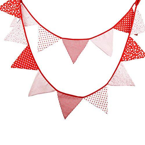 Wicemoon Guirnalda de 14 dibujos banderines Banderolas Colores alegres para exterior