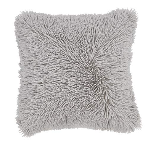 Catherine Lansfield Cuddly Cushion Cover Silver, 45x45cm
