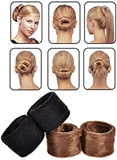 SOLDOUT™ 4 PCS Fashion Hair Band Accessories Braider For Women Headwear Hairpin Bun Tail Classic Pony Hair Styling Braid T...