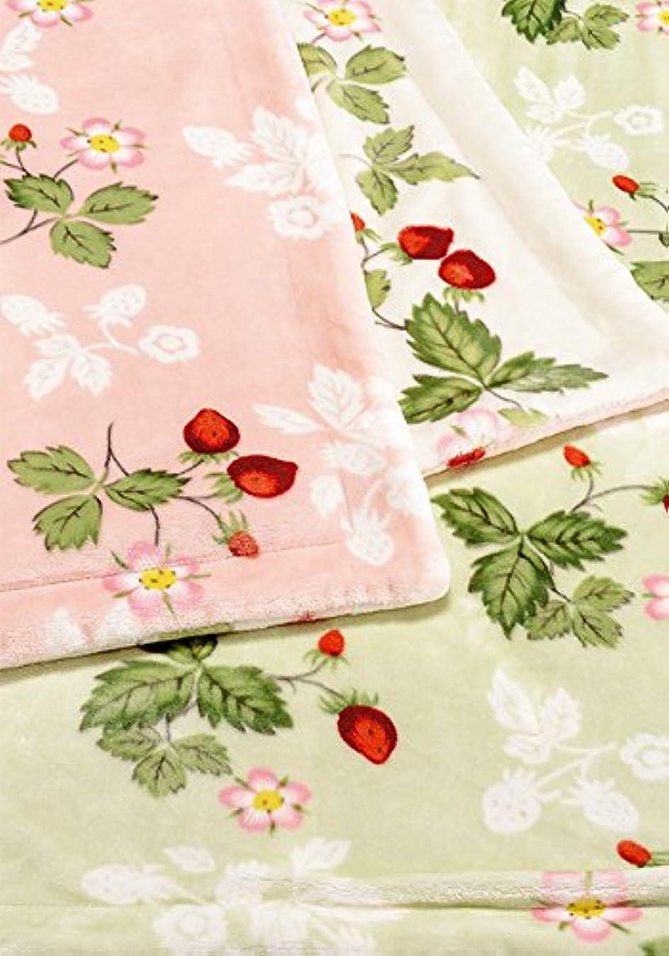 バスルーム今朝東京西川 WEDGEWOOD/ウェッジウッド わた入り リバーシブル 毛布 シングル FQ07805034 (ピンク)