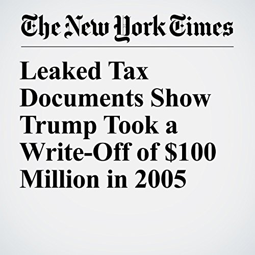 Leaked Tax Documents Show Trump Took a Write-Off of $100 Million in 2005 copertina