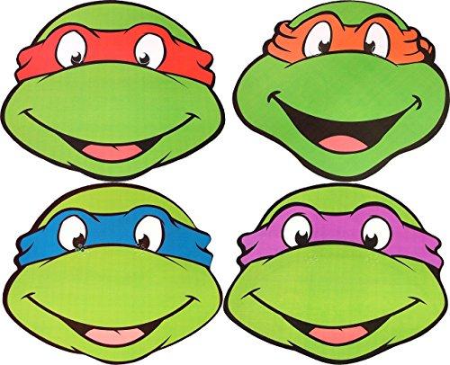 Kids Stars Teenage Mutant Ninja Turtles - Multipack - Card Face Masks