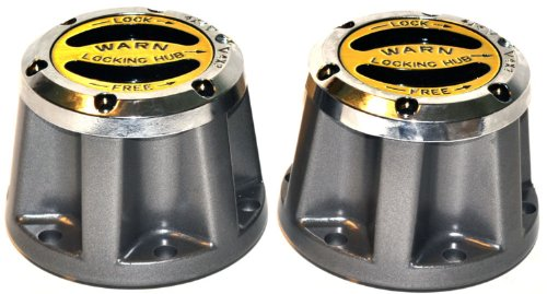 WARN 60459 Premium Manual Locking Hub with Zinc Aluminum Alloy Dial, Dual Seals and 26 Splines, Chrome, 1 Pair
