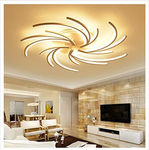 NUEVO 2042WJ de 5–Lámpara de techo LED con mando a distancia Luz/brillo ajustable acrílico de pantalla Color blanco lacado marco de metal diseño moderno Clase de eficiencia energética: A + Modern