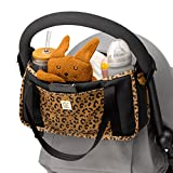 Petunia Pickle Bottom Wander Stroller | Stroller Caddy for organization | Perfect Baby Caddy to Keep Everything Organized| Multiple Carry Positions - Fits Most Strollers | Leopard Leatherette