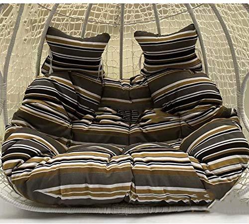 Doble silla colgante de huevo del amortiguador, de espesor oscilación cesta Cojín hamaca colgante del amortiguador de asiento de jardín cremallera lavable sin sillas fucsia, color: F ( Color : H )