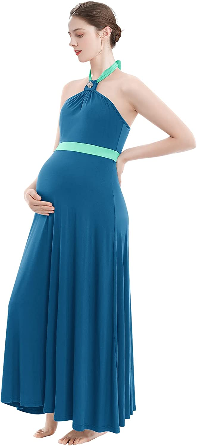 Fashionable Women Halter Casual Maternity Dress Summer Photog New Shipping Free Elegant Fitted