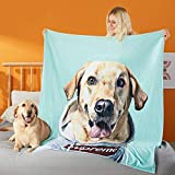 Personalized Dog Portrait Blanket Custom Blankets & Throws with Photo Christmas New Year Birthday Gifts Blanket Pet Dog | Cat Lover | Dog Mom |Cat Lady |Mother |Adults |Men |Women Gifts 30'×40'