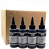 Kit de recambio de tinta para impresora Epson T0441, Stylus C64, C66, 84, C86, CX3600, CX4600, CX6400, CX6600, CX6600, Cartuchos recargables CIS/CISS System (100 ml, 4 negros)