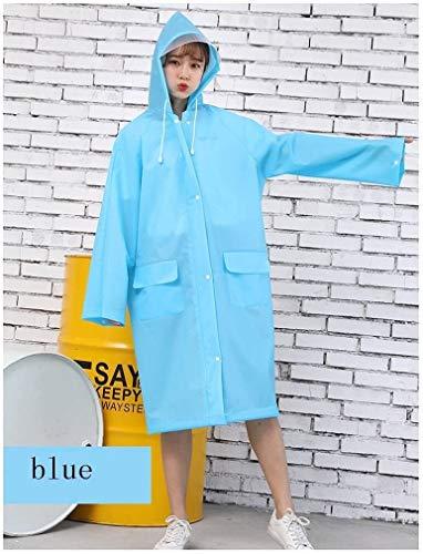 EVA doorzichtige poncho, regenjas dames regenjas motorfiets regenjas waterdichte windjack jas regenjas (Color : C, Size : Medium)