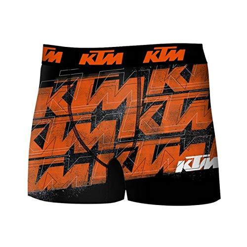 KTM Heren Boxershorts Microvezel Log Oranje Zwart